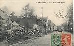 Le boulevard Gambetta après la guerre 14/18