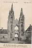 Guerre 1914. L`Eglise Saint Jean des Vignes à Soissons (02) après le bombardement.
