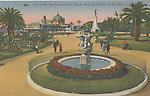 La fontaine des Tritons dans le jardin du Roi Albert Ier