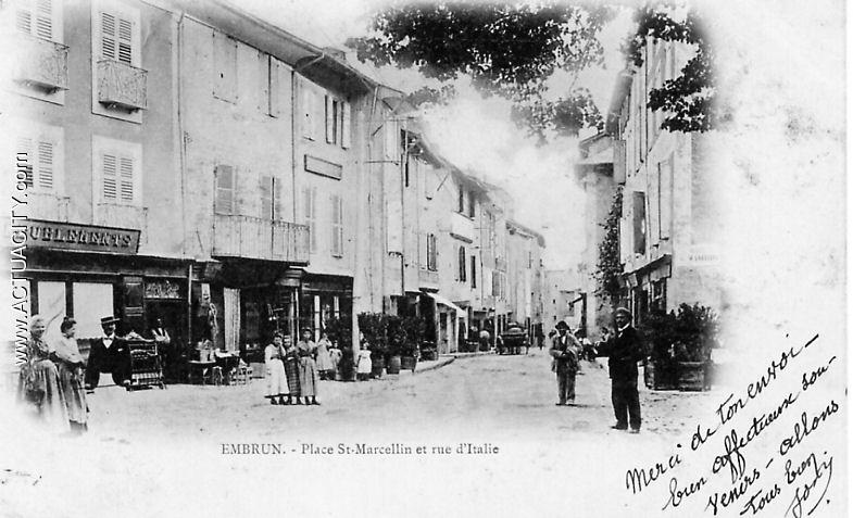 Cartes postales anciennes de brian on 05100 actuacity - Bureau de change place d italie ...
