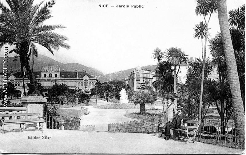 Cartes postales anciennes de nice 06000 actuacity - Petit jardin public nice ...