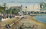 La Promenade de la Croisette, la Plage et l`Hôtel Carlton