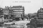 Le pont de Meuse et le déversoir