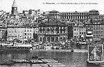 Le Vieux Port, l'Hôtel-de-Ville, le Clocher des Accoules et l'Hôtel-Dieu