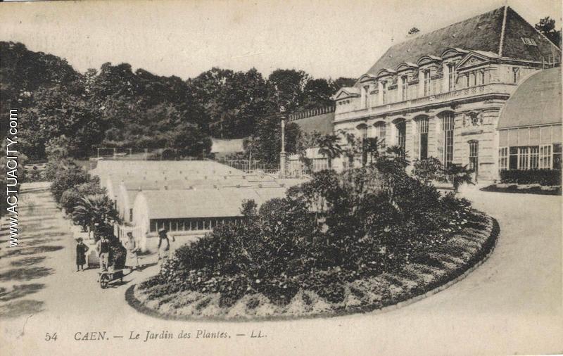 Cartes postales anciennes de caen 14000 actuacity - Le jardin des plantes caen ...
