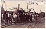 prisonniers de guerre allemands déchargeant bateau bassin n 3 mai 1915