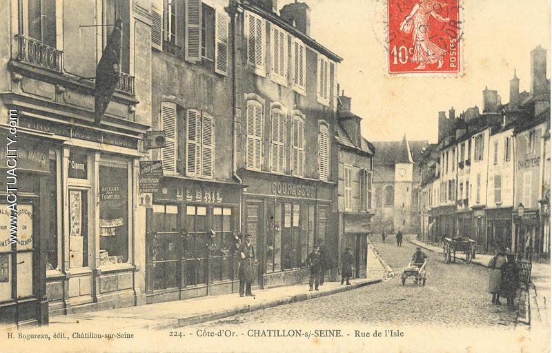 Cartes postales anciennes de ch tillon sur seine 21400 actuacity - Bureau de poste chatillon ...