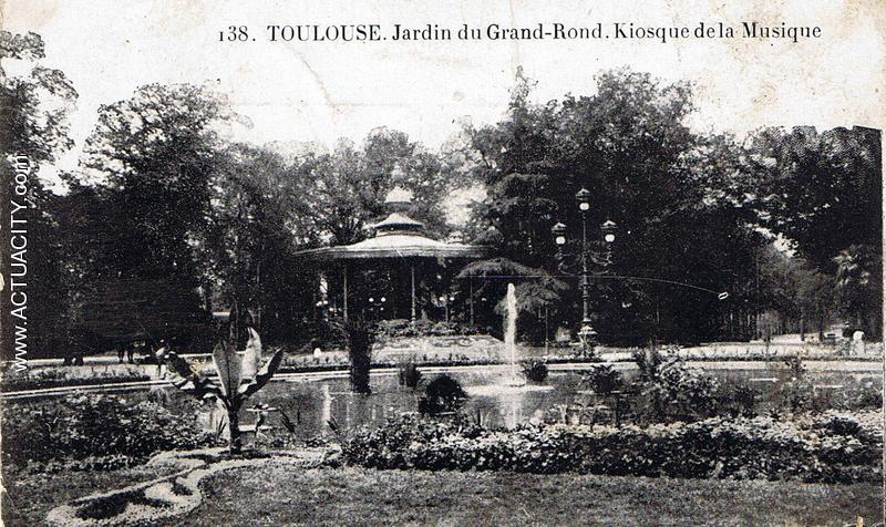 Cartes postales anciennes de toulouse 31000 actuacity for Jardin grand rond toulouse
