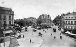 Toulouse, Haute-Garonne, Carrefour de la rue d'Alsace-Lorraine et du Boulevard de Strasbourg depuis
