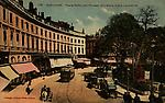 Colorisée-119-Place Wilson (ex-La Fayette):trolley+voitures à chevaux