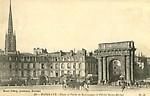 Place et Porte de Bourgogne et Flèche Saint-Michel