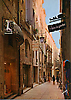 Rue de l'Ancien-Courrier dans le vieux Montpellier