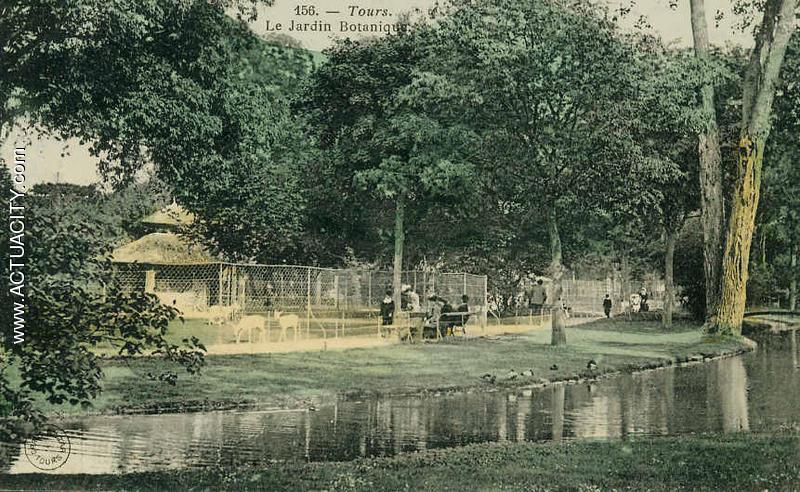 Cartes postales anciennes de tours 37000 actuacity for Jardin botanique tours