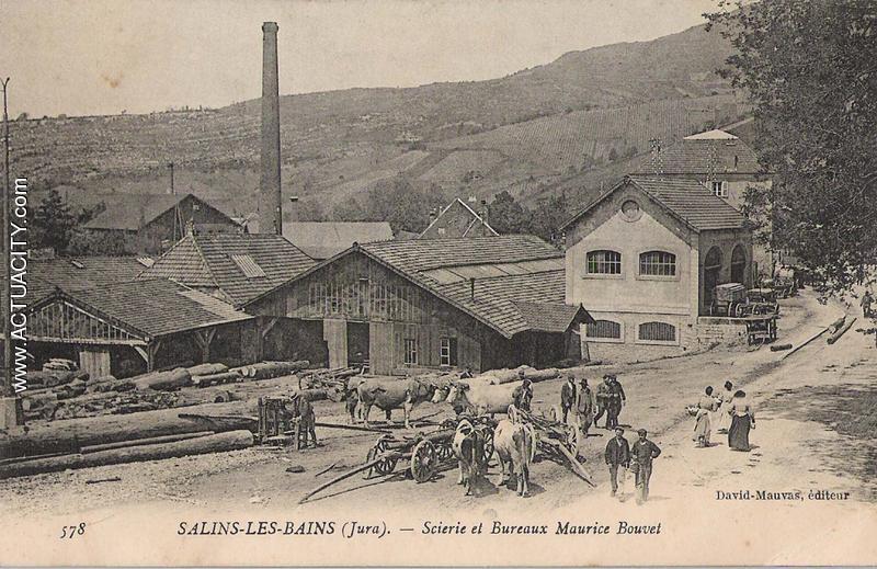 Cartes postales anciennes de salins les bains 39110 for Salins les bains