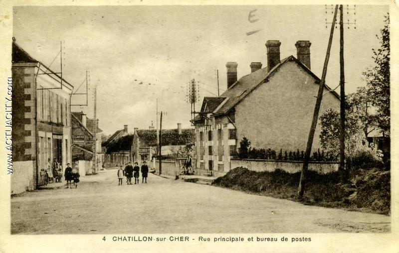 Cartes postales anciennes de ch tillon sur cher 41130 actuacity - Bureau de poste chatillon ...