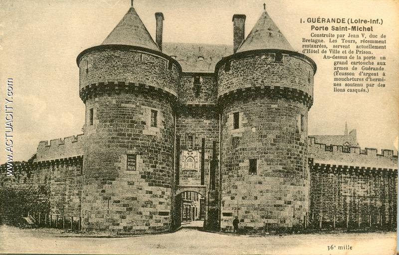 Cartes postales anciennes de gu rande 44350 actuacity for Porte unie st michel