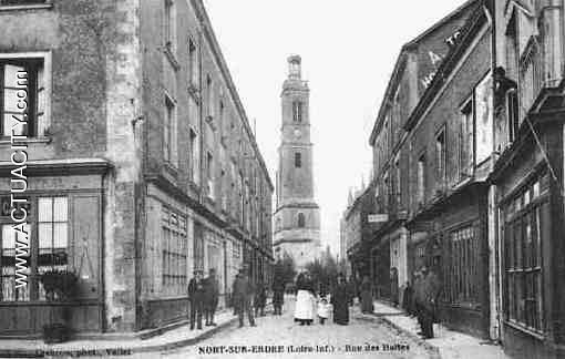 Cartes postales anciennes de nort sur erdre 44390 actuacity - Lapeyre rue des halles ...