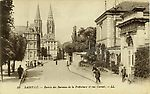 Saint-Lô - Entrée des bureaux de la Préfecture et rue Carnot