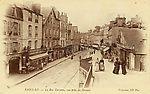 Sant-Lô - La rue Torteron - Vue prise du Grouais