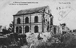 N&B-(guerre 14-18)n°257-la Mairie de Massiges (en ruines)