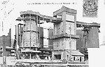 Les hauts-fournaux de Marnaval en 1904 [cachet de la poste]