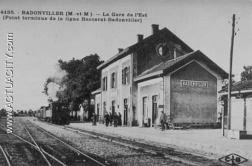 Cartes postales anciennes de badonviller 54540 actuacity - Bureau de poste gare de l est ...