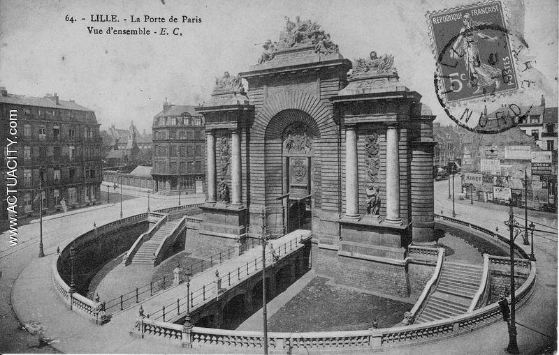 Cartes postales anciennes de lille 59000 actuacity - Station essence porte des postes lille ...
