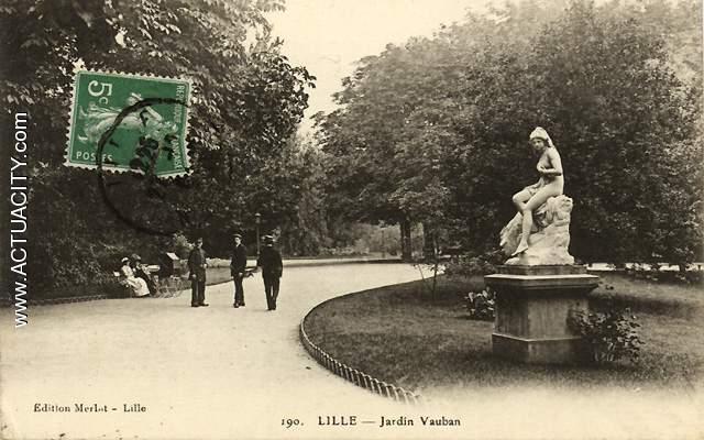 Cartes postales anciennes de lille 59000 actuacity for Jardin vauban lille