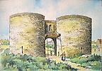 Douai - Porte d`Arras (dessin)  carte postale portant au verso: M. Barré & J. Dayez Édit., Paris