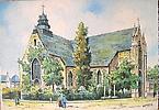 Douai - Eglise Notre Dame (dessin) carte postale portant au verso: M. Barré & J. Dayez Édit., Pa