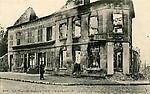 Le bureau de l`octroi après le bonbardement en 1914