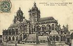 N&B-Eglise St Germain - Vue générale (NB côté de la place du marché)