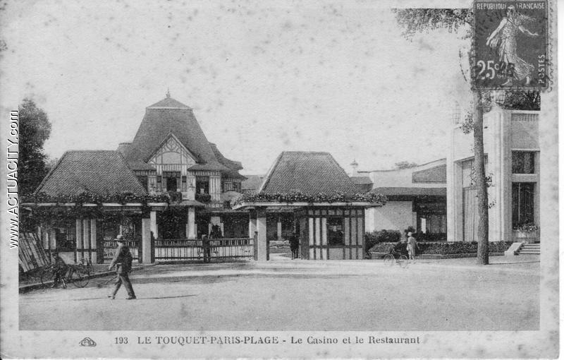 Cartes postales anciennes du touquet paris plage 62520 for Restaurant le jardin touquet