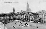 Strasbourg Place Kleber, carte écrite le 13/12/1918
