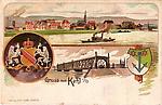 PONT DE KEHL carte postale allemande
