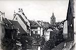 Près de la Lauch, Colmar, la capitale de la Haute Alsace l'église Saint-Martin