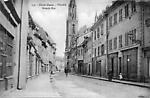 Thann, Haut-Rhin, La Grande Rue après  la guerre de 14-18