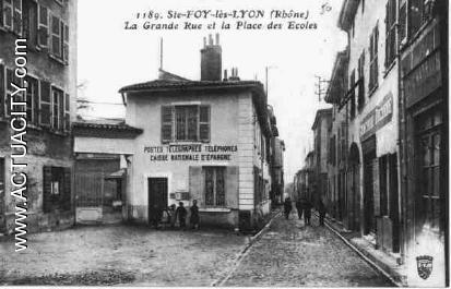 Cartes postales anciennes de sainte foy l s lyon 69110 for Garage ste foy les lyon