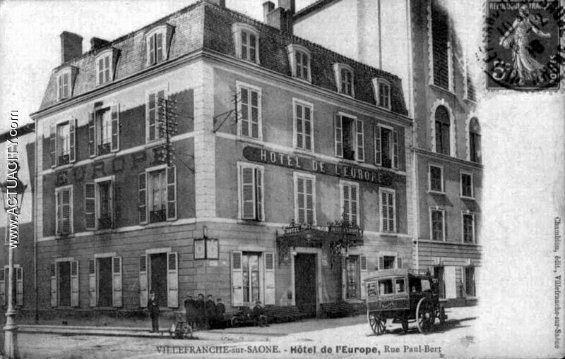 Cartes postales anciennes de villefranche sur sa ne 69400 - Bureau de poste villefranche sur saone ...