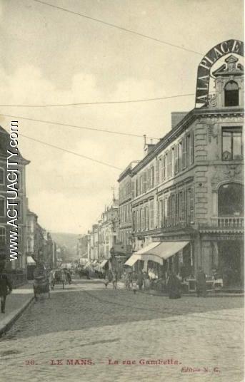 Cartes postales anciennes du mans 72000 actuacity for Garage renault rue gambetta le mans