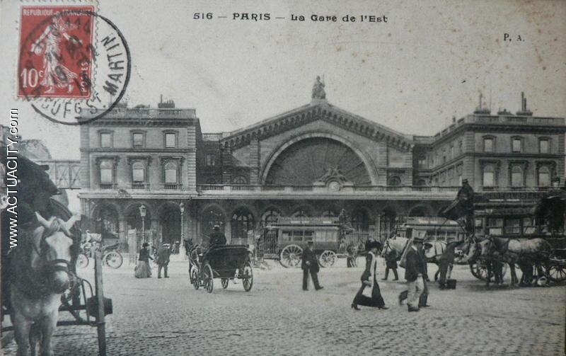 Cartes postales anciennes de paris 75000 actuacity - Bureau de poste gare de l est ...