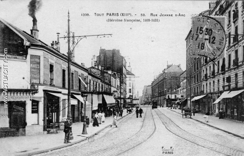 Cartes postales anciennes de paris 13e arrondissement for Arrondissement porte d italie