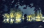 Exposition coloniale — Bois de Vincennes — Illuminations — Effet d'éclairage sur le lac Daumesnil (E