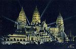 Exposition coloniale — Bois de Vincennes — Illuminations — le temple d'Angkor (Blanche, architecte;