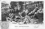 Jardin du Trocadéro en 1903 [cachet de la poste]
