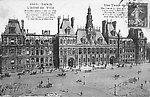 L'Hôtel de Ville et la Place, en 1909 [cachet de la poste]