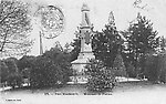 Le Parc Montsouris en 1904 [cachet de la poste] et le monument en hommage à la mission Flatters