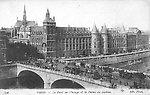 Le Palais de Justice et le Pont au Change vers 1905