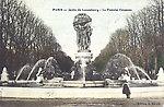 Jardin du Luxembourg — La fontaine de Carpeaux, vers 1910