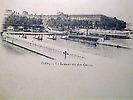 Louvre, passerelle des Arts et barrage de la Monnaie depuis la rive gauche de la Seine.